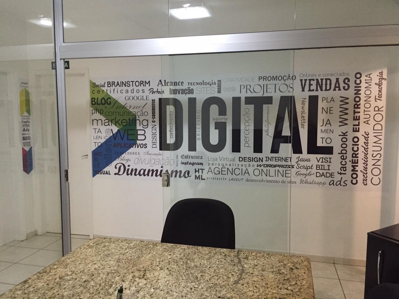 adesivagem de parede na lógica digital